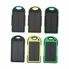 Solar Power Bank USB Battery Dual External For Phone Waterproof Charger Portable