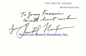Richard Nixon signed White House card