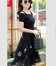 OPEN SHOULDER DRESS WITH TIE (JLH) Black