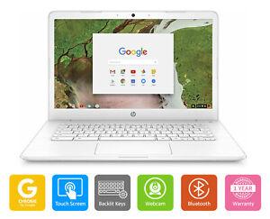 "HP Chromebook Laptop 14"" HD Touch Screen Bluetooth Webcam Wi-Fi Backlit Keyboard"