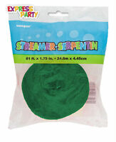 4 PACK OF CHRISTMAS GREEN CREPE STREAMER DECORATIONS 4 x 81FT