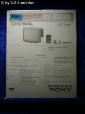 Sony Service Manual KV D3431D Color TV (#5966)