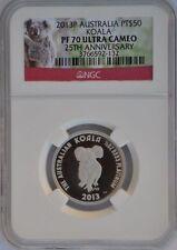 2013 P Australia 25th Anniversary $50  1/2 oz Platinum Koala With NGC PF70
