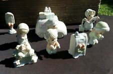 Precious Moments Sugar Town - 8 Pc Lot - Post Office 1998 Mail Truck