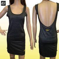 Jetpilot Gem Ladies Tank Dress Size 10 - Black/gold