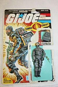 Vintage 1983 ARAH G.I. Joe FIREFLY Cobra Saboteur loose w/File card some weapons