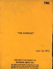 1972 Original Script  The Exorcist