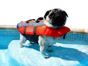K9 Pursuits Dog Life Jacket, High Visibility Easy Grab Float Coat