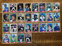 1987 CHICAGO CUBS Topps COMPLETE Baseball Team Set 28 Cards SANDBERG CEY SMITH!