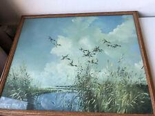 vintage framed print by Vernon Ward 'Shovellers coming Inland' 57cmx47cmx2.5cm