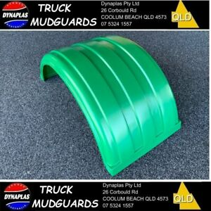 DARK GREEN LOW PROFILE B DOUBLE TRUCK SEMI TRAILER MUDGUARDS 19.5 INCH POLY NEW