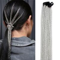 KQ_ Women Multi Strand Hair Extension Chain Ponytail Tassel Headdress for Party