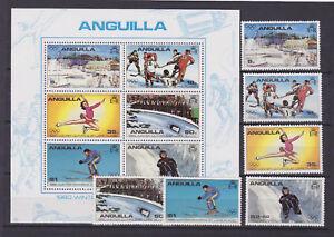 anguilla 1980 Sc 375/80+380a set MNH winter olympics,lake placid.   l642