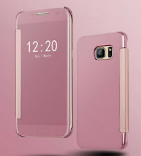 Mirror Plating Clear View Flip Folio Slim PC Bumper Case Cover For LG G5 4 6 V10