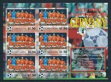 [105227] Grenada 2006 World cup football Germany team Netherlands Sheet MNH