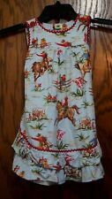 Frogs Frills and Daffodils Boutique Western Dress Jumper 4T