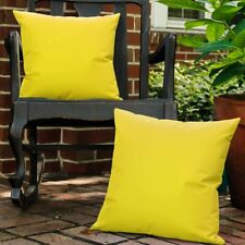Waterproof Outdoor Cushion Cover, 2 Pack Solid PU Coating Throw Pillow Case