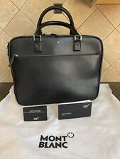 New ListingMontblanc 113184 Black Sartorial Document Case Small Bag Leather New Italy N/Box