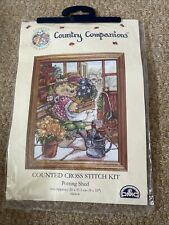 """DMC Country Companions Cross Stitch Chart: """"Potting Shed"""" New Unopened"""