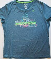 RunDisney Marathon 26.2 Miles Women 2Xl Gray Neon Graphic Champion Tshirt 2016