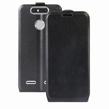 Flip premium bolso negro para ZTE BLADE v8 mini protección estuche funda estuche nuevo Top