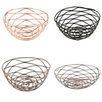 Metal Wire Iron Basket Fruit Vegetable Organizer Storage Modern Art Basket