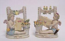 Porzellan Figur Paar Engel Putto Engelchen Cherub