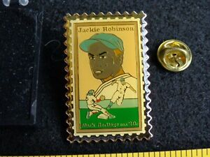 Vintage Brooklyn Dodgers Jackie Robinson USPS Postage Stamp Pin NOS with CASE !