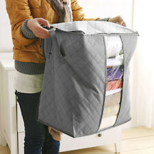 Bamboo Charcoal Folding Clothes Sweater Blanket Closet Organizer Storage Bag