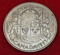 1953 CANADA 🇨🇦 SILVER 50 CENTS HALF DOLLAR Free Combined Shipping