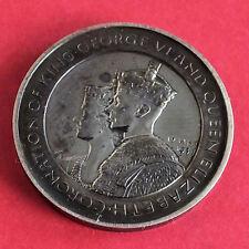 1937 Couronnement de George VI et la Reine Elizabeth 29 mm médaille d'argent