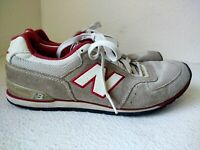 New Balance Tan Suede Red Trim Running Shoes W598TRS Womens US Size 9.5B