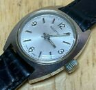 Nice Vintage Ariston Swiss Lady Silver Leather Hand-Wind Mechanical Watch Hours photo