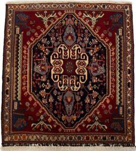 Small Square Tribal Design Vintage 2X2 Oriental Rug Wool Carpet Kitchen Carpet