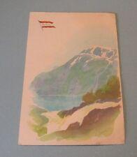 1975 NAL Norwegian American Cruise Ship Line MS Sagafjord Concert Program McEwan