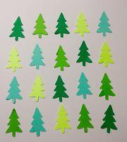Christmas Tree Pine Tree Confetti Lot of 150 Die Cuts Scrapbook, Embellishments