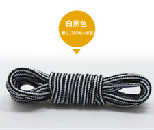 1 pairs Two-color Round Stripe Shoelaces Boots Sports shoe Shoelaces