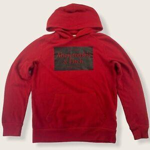 Abercrombie Kids 11/12 Red Hoodie Sweatshirt Long Sleeve Kangaroo Pocket