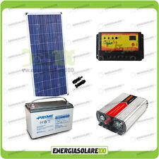 Kit baita pannello solare 150W 12V inverter onda modificata 1000W batteria AGM 1