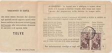 ITALIA 1952 COPIA 6L LAVORO SU BOLLETTA TELEFONICA SOC,.TELVE