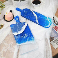 Resin Casting Mold Craft Tools Plate Mould Epoxy Handle Translucent DIY Coaster