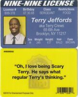 Terry Jeffords - T CREWS Brooklyn Nine Nine fake ID NY i.d card Drivers License