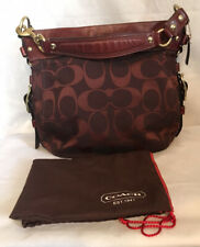 Coach Classic Zoe Large Hobo Shoulder Bag Purse E08993-12674 Burgundy Wine Color