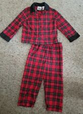 Simply Basic Red Plaid Flannel Pajamas Girls Size 24 months
