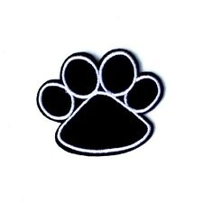 Dog Paw Patch Cat Pet Embroidered Iron Sew On Applique Badge Motif