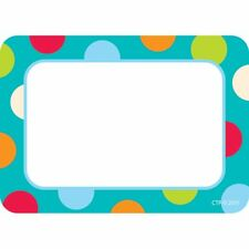 Dots on Turquoise Labels Creative Teaching Press Ctp4516