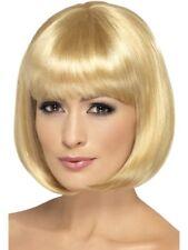 Dark Blond Partyrama Wig, Short Bob Adult Womens Smiffys Fancy Dress Costume