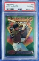 Mark McGwire *RARE* 1993 🔥TOPPS FINEST🔥 #92  GEM MINT PSA 10 only 77 exist