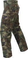 Camo Vintage Paratrooper Pants 8 Pocket Tactical Military BDU Woodland Fatigues