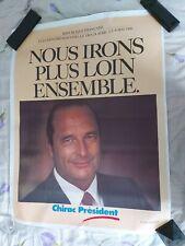 Affiche campagne présidentielle  Chirac lot de 4